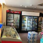 Drinks, cold snacks, icecream