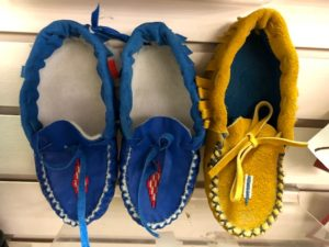 Moccasins, slippers, shoes